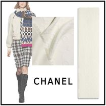 CHANEL 2019-20AW STOLE ivory more scarves & shawls