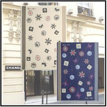 CHANEL 2019-20AW STOLE ivory navy blue more scarves & shawls