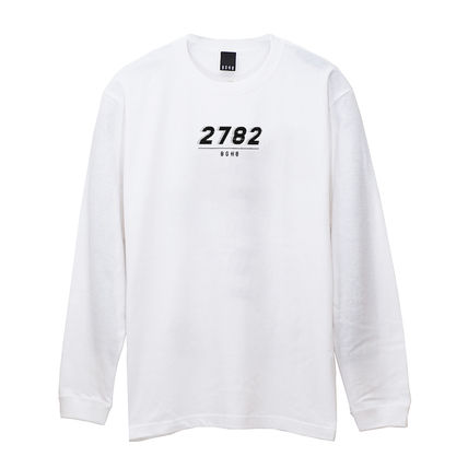 Long Sleeve Crew Neck Pullovers Street Style Long Sleeves Cotton