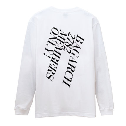 Long Sleeve Crew Neck Pullovers Street Style Long Sleeves Cotton 2