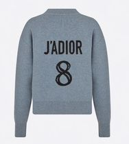 Christian Dior JADIOR Crew Neck Casual Style Cashmere Blended Fabrics Street Style