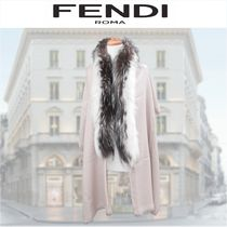 FENDI Wool Cashmere Blended Fabrics Elegant Style Accessories