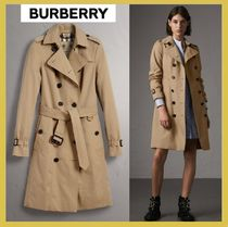 Burberry THE SANDRINGHAM Other Plaid Patterns Long Elegant Style Trench Coats