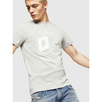 DIESEL Crew Neck Street Style Plain Cotton Short Sleeves Logo