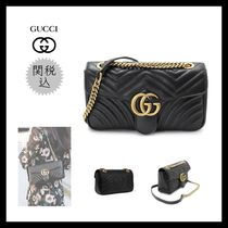 GUCCI GG Marmont Casual Style Calfskin 2WAY 3WAY Chain Plain Party Style
