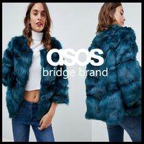 ASOS Short Faux Fur Plain Fur Vests Cashmere & Fur Coats