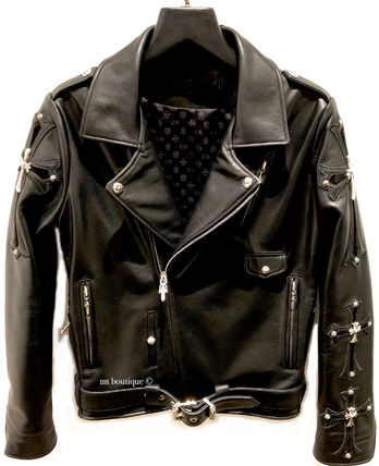 CHROME HEARTS CH CROSS Biker Jackets