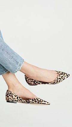 Leopard Patterns Elegant Style Pointed Toe Pumps & Mules