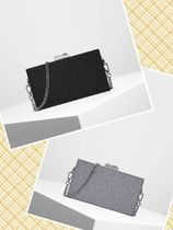 Charles&Keith Chain Plain Party Style Elegant Style Clutches