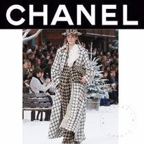 CHANEL ICON Other Check Patterns Wool Tweed Blended Fabrics Street Style