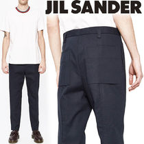 Jil Sander Tapered Pants Plain Cotton Tapered Pants