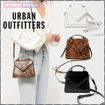 Urban Outfitters 2WAY Leather Office Style Python Elegant Style Shoulder Bags
