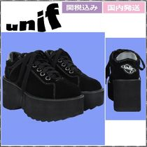 UNIF Clothing Platform Suede Plain Platform & Wedge Sneakers