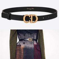 Christian Dior Plain Leather Elegant Style Belts