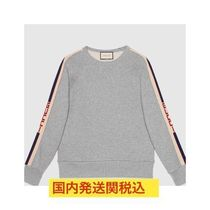 GUCCI Crew Neck Pullovers Unisex Street Style Long Sleeves Cotton