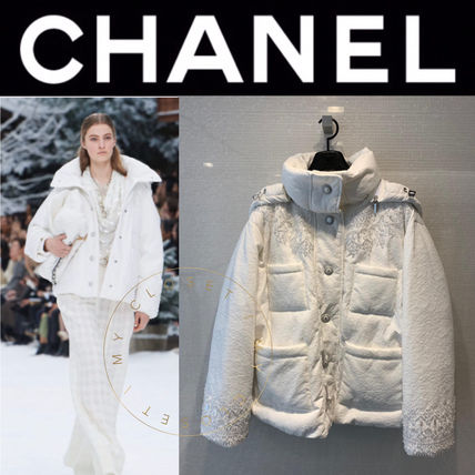 CHANEL ICON Casual Style Blended Fabrics Street Style Plain Medium