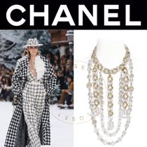 CHANEL ICON Star Blended Fabrics Handmade Party Style Elegant Style