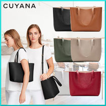 CUYANA Casual Style Plain Leather Elegant Style Totes