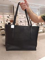 Jimmy Choo Unisex Studded Street Style A4 Bi-color Plain Leather Totes