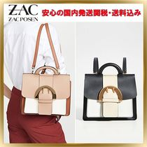 ZAC ZAC POSEN 3WAY Leather Elegant Style Backpacks