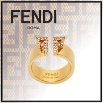 FENDI Initial With Jewels Rings