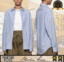 MARTINE ROSE Stripes Casual Style Long Sleeves Cotton Medium