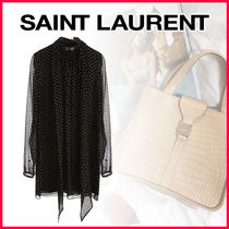 Saint Laurent Short Star Long Sleeves Dresses