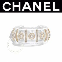 CHANEL ICON Bangles Costume Jewelry Casual Style Blended Fabrics