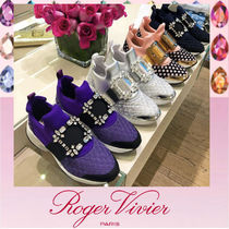 Roger Vivier Platform Rubber Sole Lace-up Casual Style Street Style