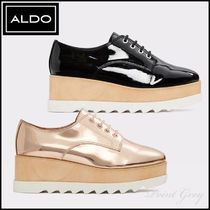 ALDO [ALDO] Metallic Patent Platform Wedge Oxford - Vellezzo