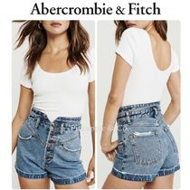 Abercrombie & Fitch Short Casual Style Denim Street Style Plain