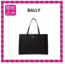 BALLY Casual Style Leather Logo Totes