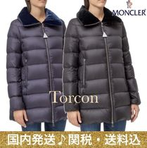 MONCLER Velvet Plain Medium Down Jackets