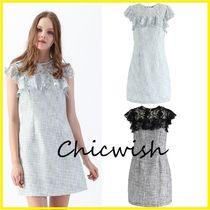 Chicwish Short Other Check Patterns Tight Blended Fabrics Sleeveless