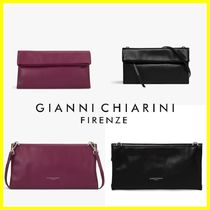 GIANNI CHIARINI 2WAY Plain Leather Clutches