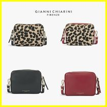 GIANNI CHIARINI Leopard Patterns 2WAY Leather Shoulder Bags