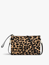 GIANNI CHIARINI Leopard Patterns 2WAY Leather Clutches