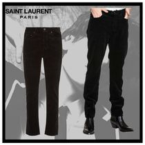 Saint Laurent Corduroy Street Style Plain Cropped Pants