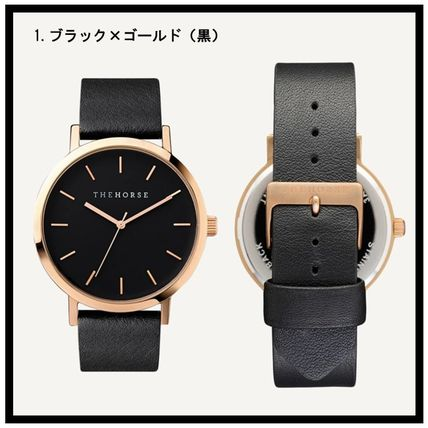 Casual Style Unisex Leather Quartz Watches Office Style