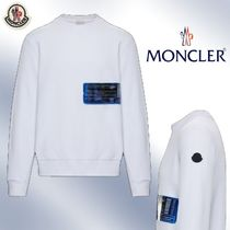 MONCLER Street Style Long Sleeves Plain Cotton Logos on the Sleeves