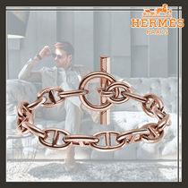 HERMES Chaine dAncre Hermes Chaine d'Ancre Bracelet / Rose Gold Large