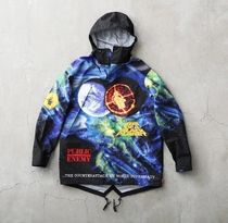 Supreme Star Nylon Street Style Collaboration Long Windbreaker