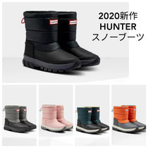 HUNTER Rubber Sole Unisex Flat Boots