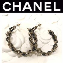 CHANEL ICON Costume Jewelry Casual Style Blended Fabrics Street Style