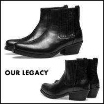 OUR LEGACY Plain Leather Boots