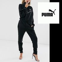 PUMA Dungarees Casual Style Sweat Street Style Long Sleeves Plain