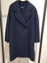 S Max Mara Wool Blended Fabrics Plain Medium Peacoats