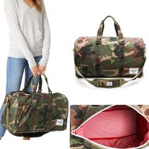 Ron Herman Camouflage Unisex A4 2WAY Boston Bags
