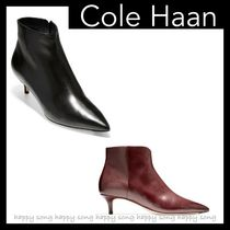 Cole Haan Plain Leather Pin Heels Boots Boots