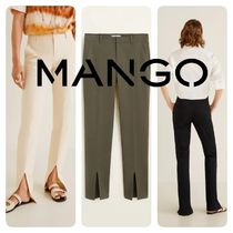 MANGO Casual Style Plain Medium Pants